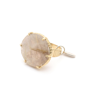 golden/quartz ring