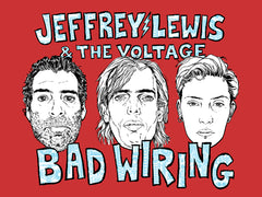 Screenprinted Jeffrey Lewis & The Voltage Poster (limited edition signed and numbered)