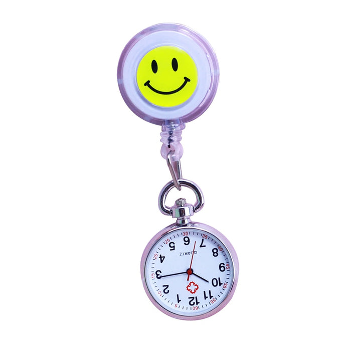 Nurse Pocket watch With Lovely Heart Smiley Face