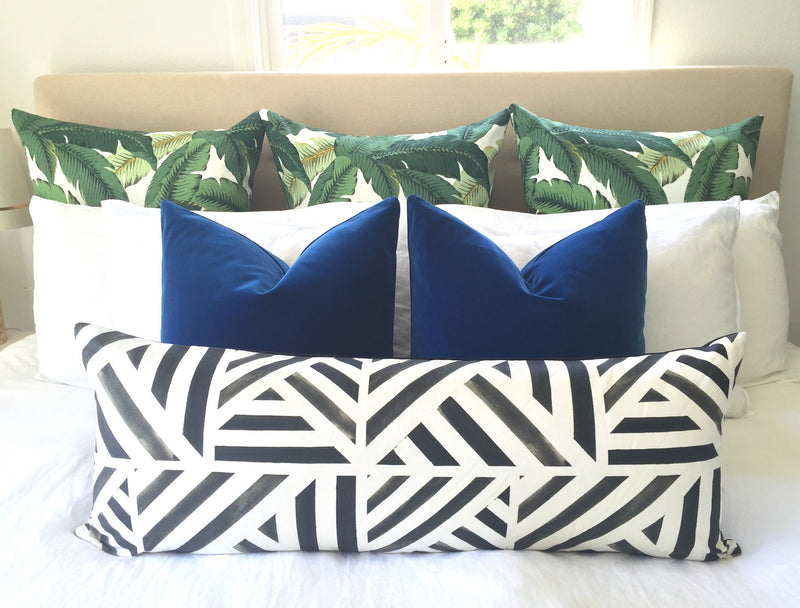 Paint Lines Pillow Cover - Charcoal Black