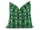 LIMITED 017 - Peruvian Stripe Pillow Cover - Kelly Green
