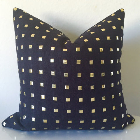 Studs Pillow Cover - Black