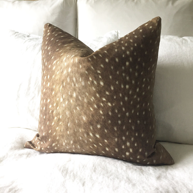 Deer Print Pillow Cover