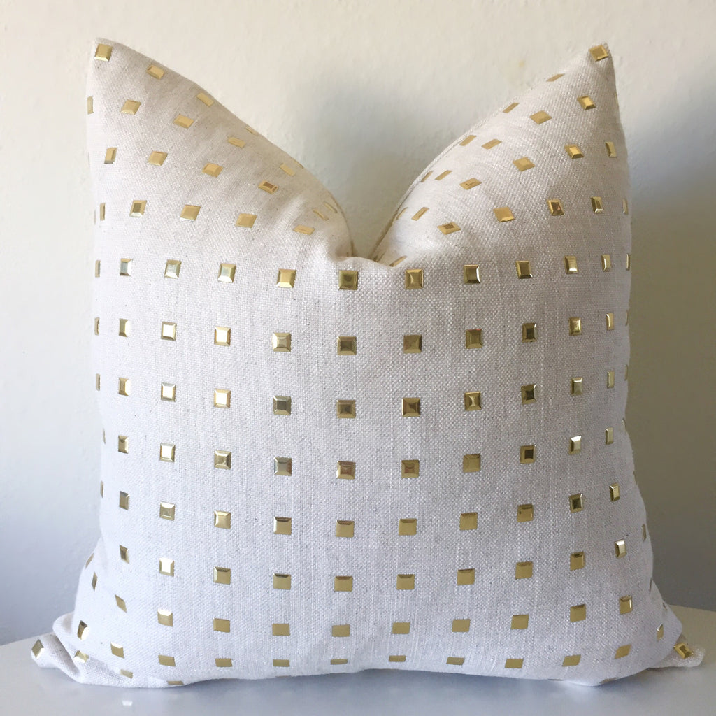 Studs Pillow Cover - Natural