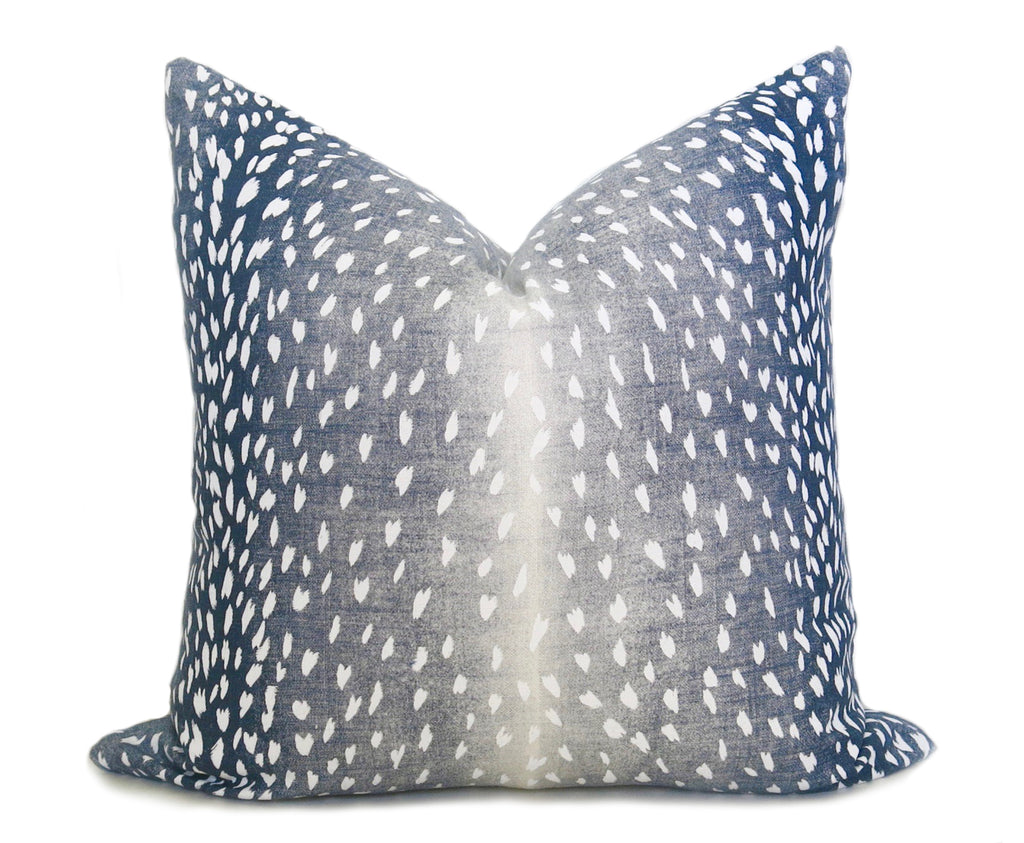 Antelope Pillow Cover - Navy Denim