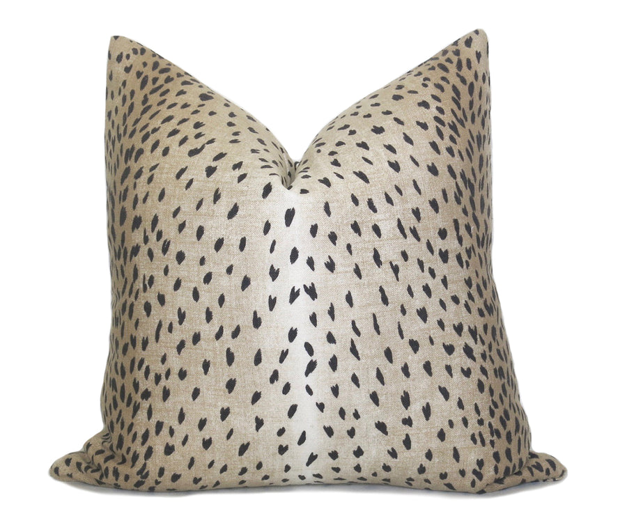 Antelope Pillow Cover Black Linen Willa Skye Home
