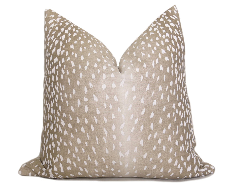 Leopard Velvet Pillow Cover - Gold