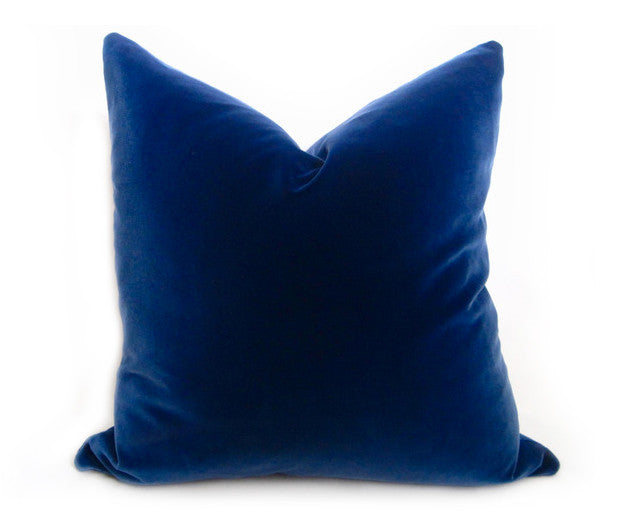 Cotton Velvet Pillow Cover - Peacock