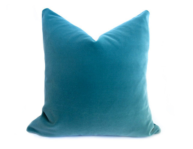 Glisten Velvet Pillow Cover - Teal
