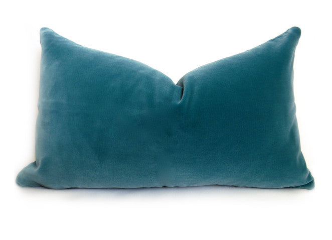Belgium Velvet Pillow Cover - Turquoise