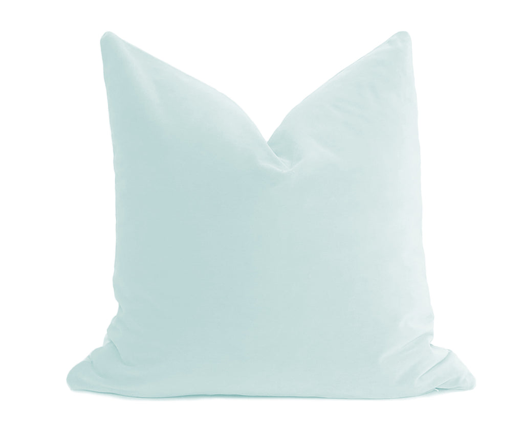 Belgium Velvet Pillow Cover - Duck Egg