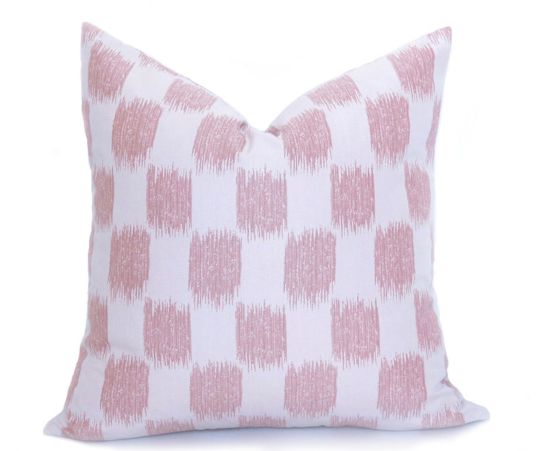 Blush Ikat Dots Pillow Cover