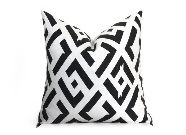 China Club Pillow Cover - DVF - Black and Off-White