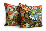 Chiang Mai Dragon Pillow Cover Pair - F. Schumacher - Aquamarine