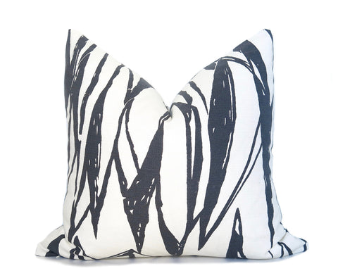 Greek Key Pillow Cover - Gray