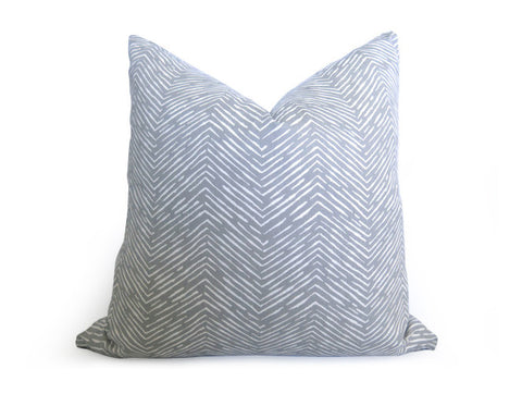 Fishbone Chevron Pillow Cover - Gray