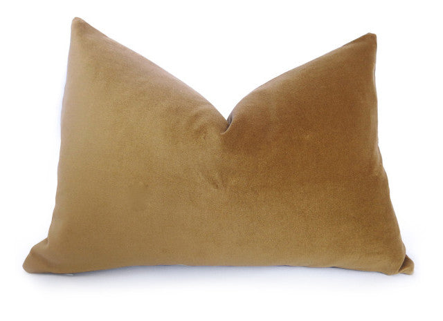 Opulent Velvet Pillow Cover - Gold