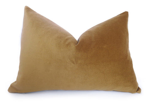 Cotton Velvet Pillow Cover - Gold
