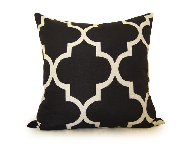 Moroccan Pillow Cover - Black
