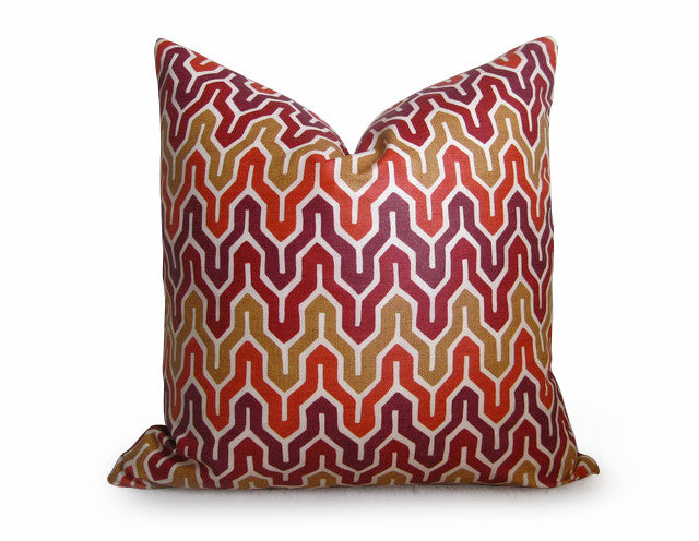 Niko Flamestitch Pillow Cover - Punch