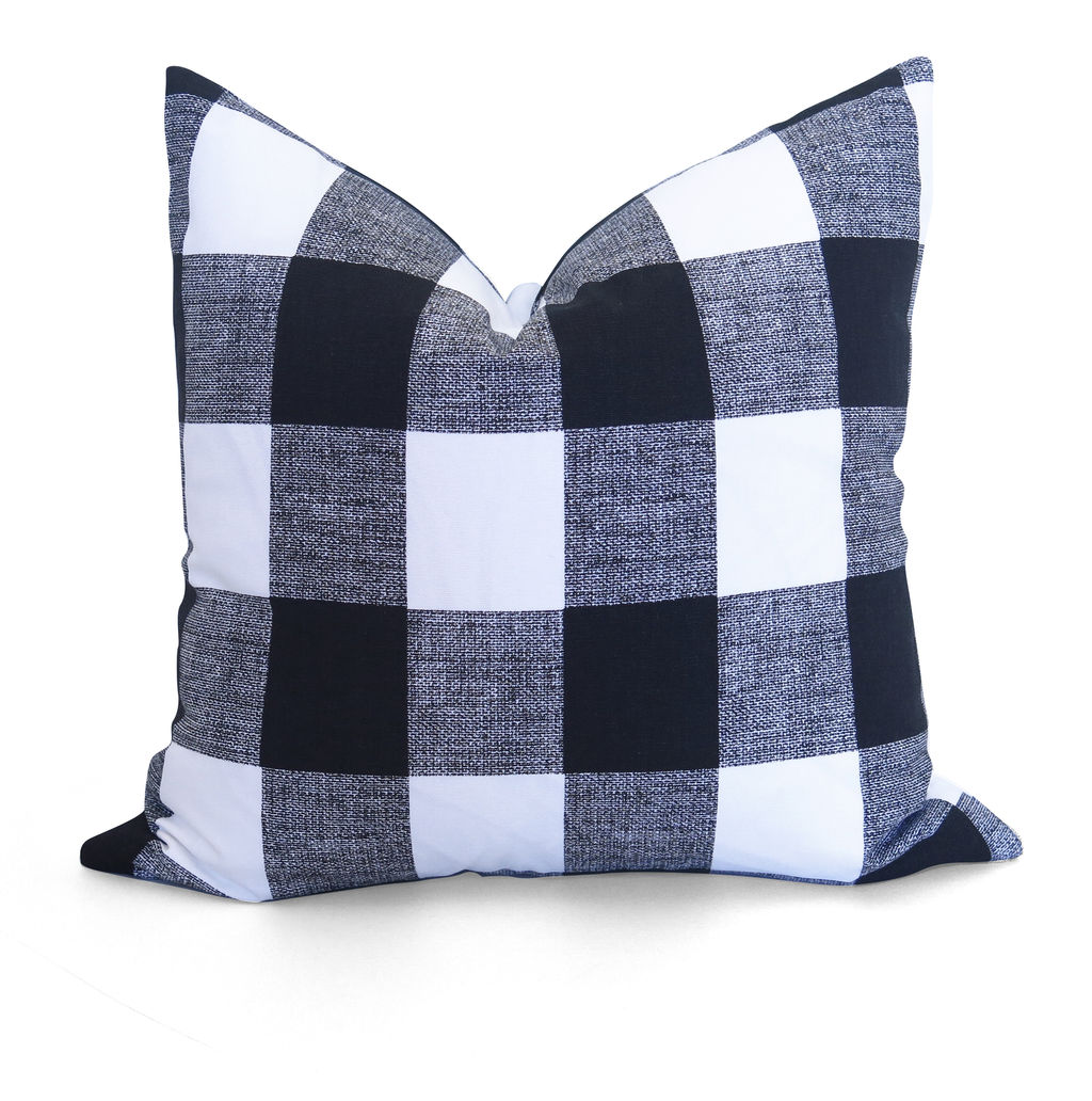 Buffalo Check Pillow Cover - Black