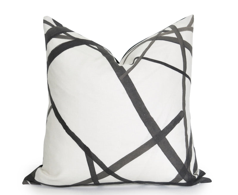 Zebra Palms Pillow Cover - Gray