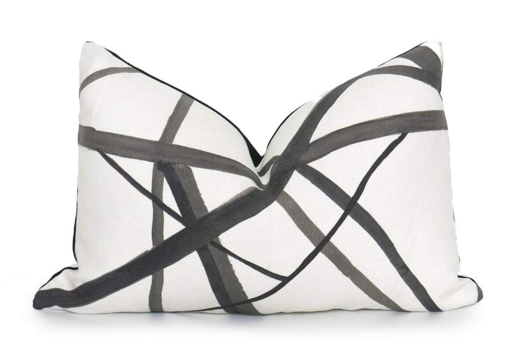 Channels Pillow Cover - Kelly Wearstler - Ebony