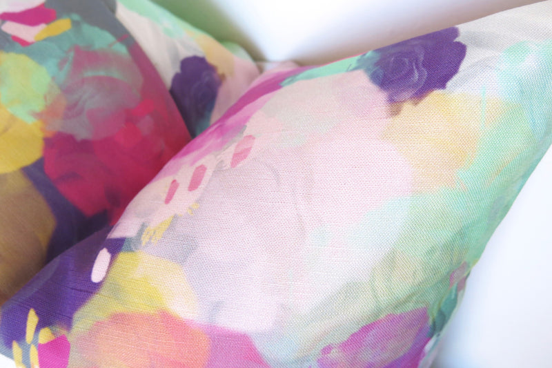 Watercolor Bursts Pillow Cover