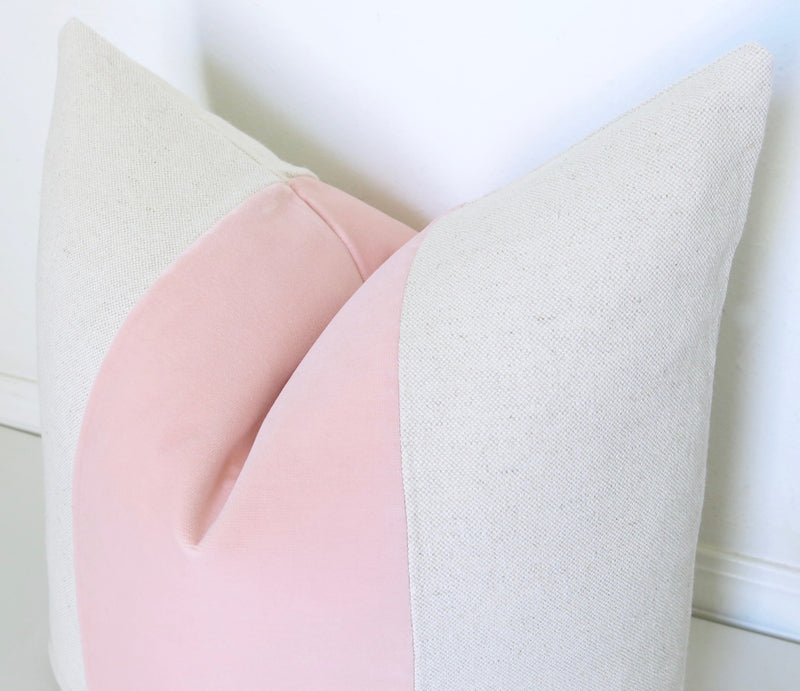 Mezzo Pillow Cover - Blush
