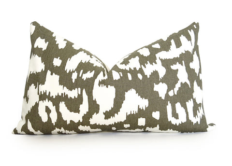 Animal Ikat Pillow Cover - DVF - Taupe