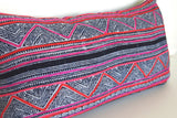 LIMITED 010 - Batik Indigo Pink Boho Pillow Cover - Vintage