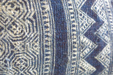 LIMITED 013 - Batik Indigo Pillow Cover - Vintage