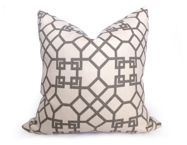 Kravet Pelagos Linen Pillow Cover - Haze Gray