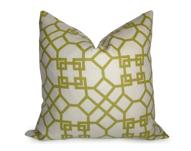 Kravet Pelagos Linen Pillow Cover - Lime