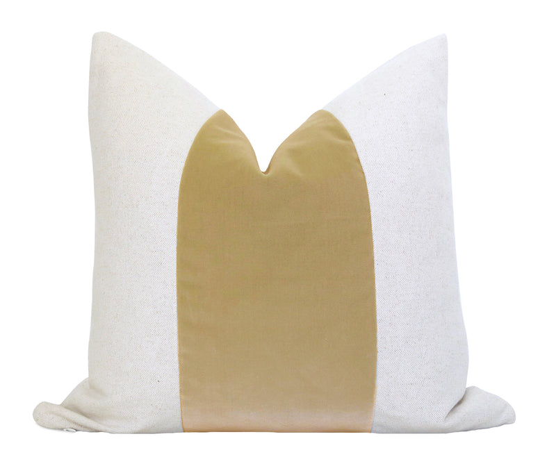 Cut Velvet Pillow Cover - Ivory