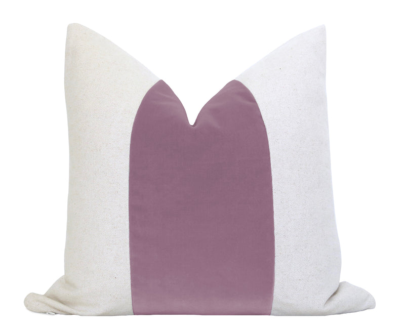 Belgium Velvet Lumbar Pillow Cover - Blush
