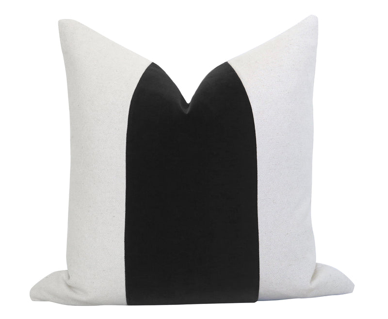 Mezzo Pillow Cover - Black