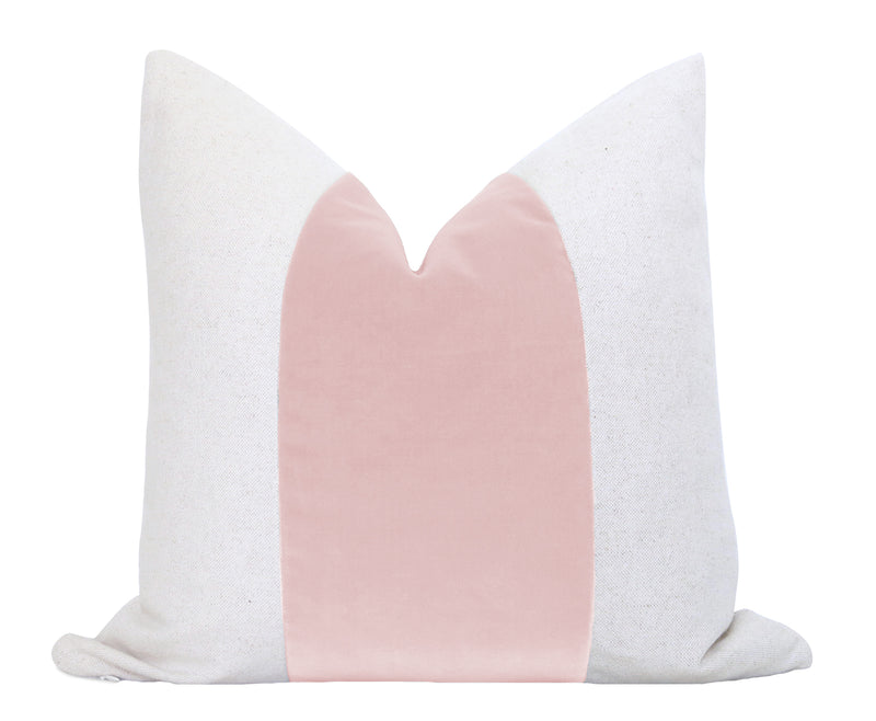 Athena Linen Pillow Cover - White with Black Greek Key