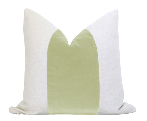 Cotton Velvet Pillow Cover - Jade