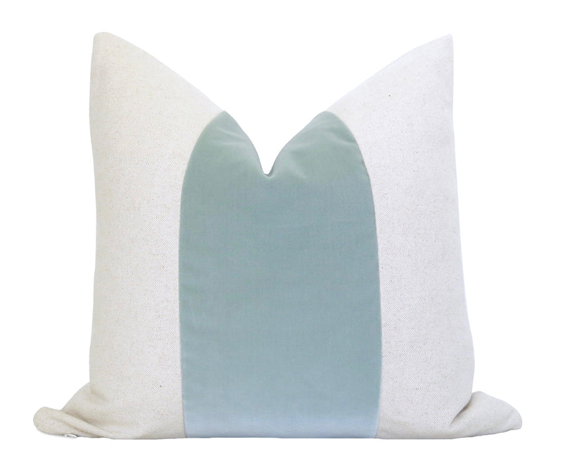 Glisten Velvet Pillow Cover - Sky Blue