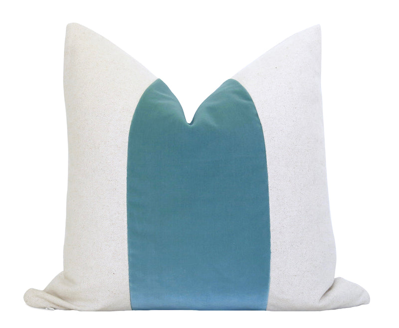 Tropical Leaf Pillow Cover - Turquoise
