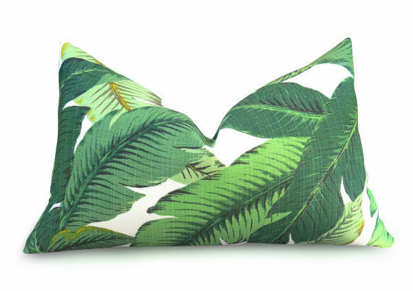 Palm Leaf Pillow Cover - Green
