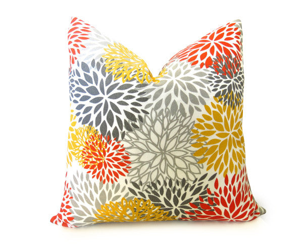 Blooms Outdoor Pillow Cover - Orange