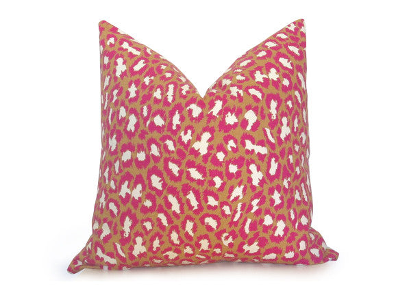 Pink Leopard Pillow Cover - DVF - Pink