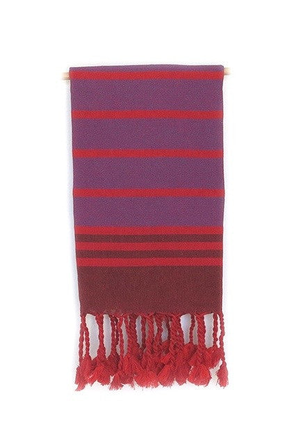 Turkish Dish Towel - Stripe Red