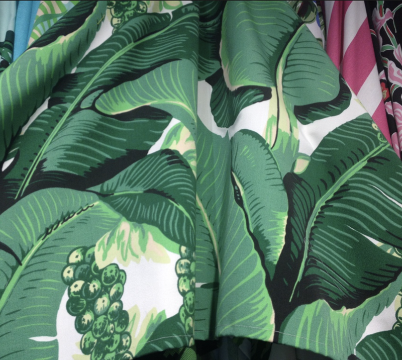 Brazilliance Banana Leaf Fabric - Dorothy Draper