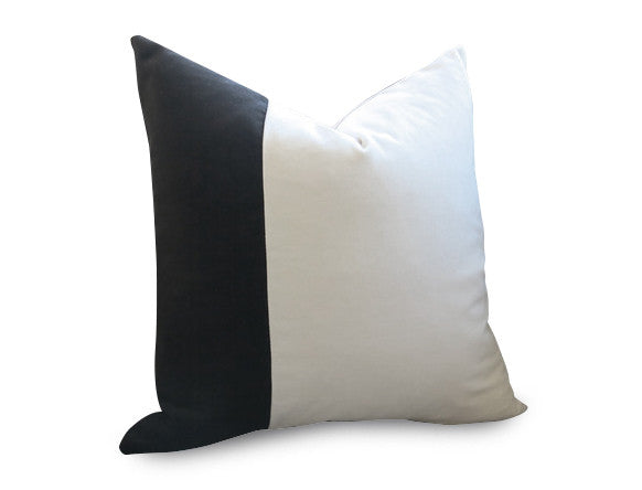Slash Velvet Pillow Cover - Sea Water