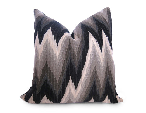 Octagon Pillow Cover - Taupe and Gray
