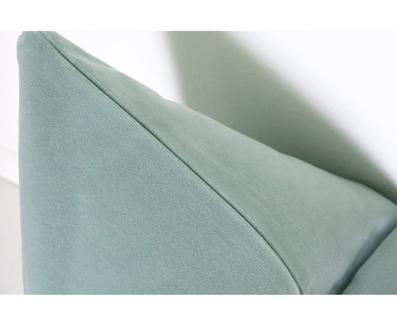 Belgium Velvet Pillow Cover - Seafoam