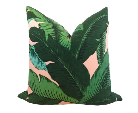 Malachite Pillow Cover - Green Faux Suede